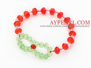 Red Crystal And Green Crystal Bracelet Is Sold At $1.29